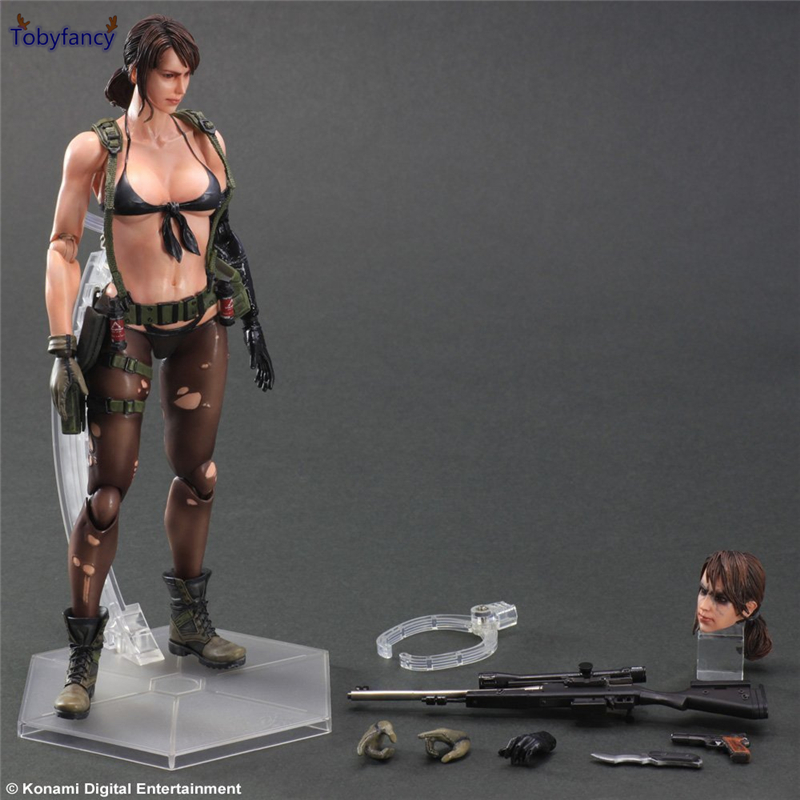 Tobyfancy Metal Gear Solid V The Phantom Pain Action Figure Girl Quiet PVC Play Arts Kai Toys Collection Model