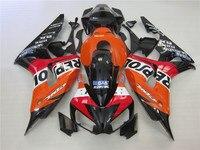 Injection molding free customize fairing kit for Honda CBR1000RR 2006 2007 red black fairings CBR 1000RR 06 07 OT23