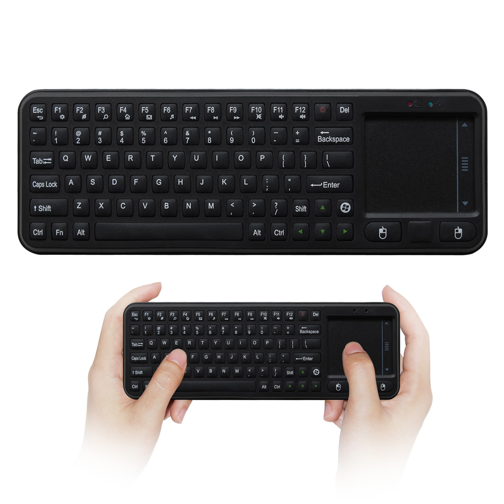 Mini Wireless Keyboard Black Mini Air Mouse 2.4GHz Wireless Keyboard And Mouse Distance Up to 30 meters For Smart TV Box