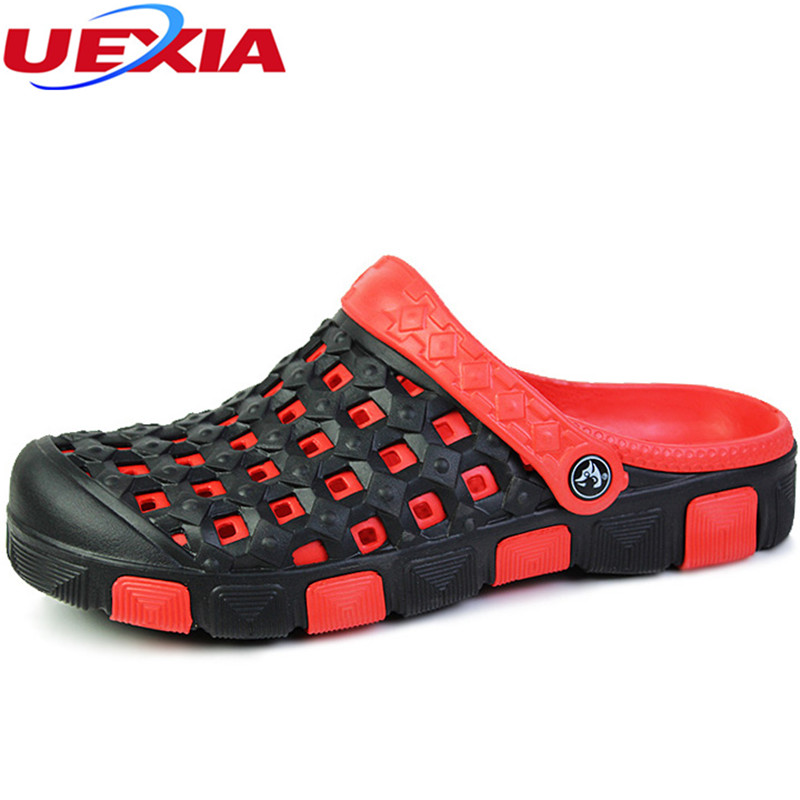 UEXIA Men Beach Sandals Breathable Classic Jelly Garden Shoes Summer Water Sandalias Man Slippers Casual Male Footwear hombre