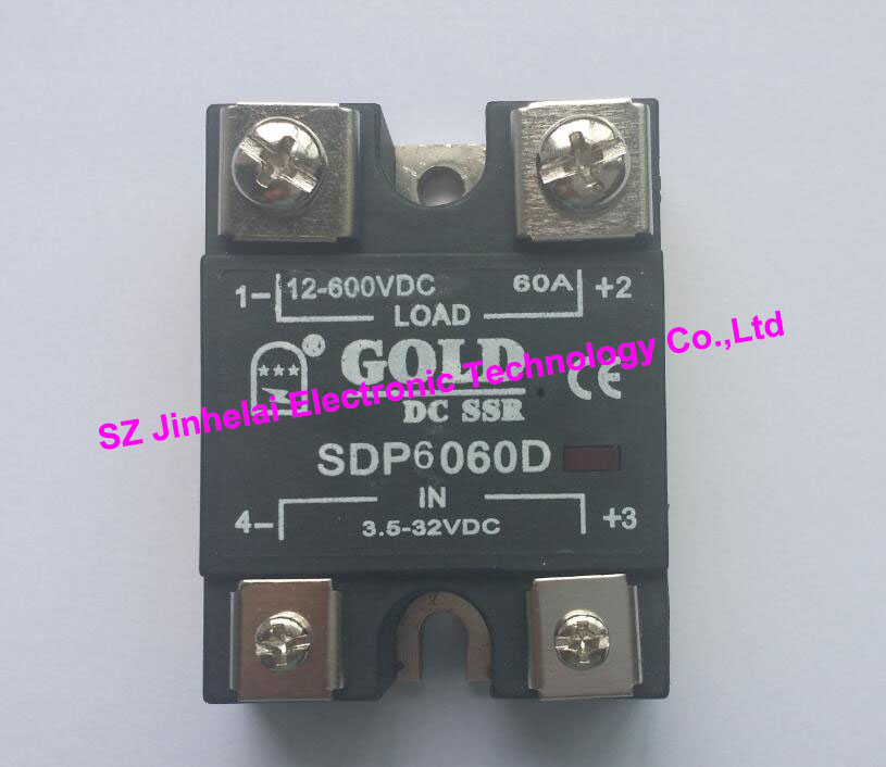 New and original  SDP6060D  GOLD Single phase DC Solid state relay  12-600VDC  3.5-32VDC  60A saimi skdh145 12 145a 1200v brand new original three phase controlled rectifier bridge module