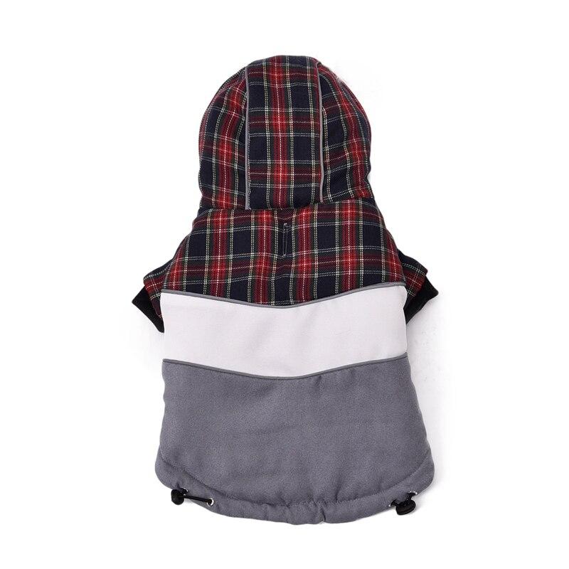 7fbd8f3c54d47 Rejilla de la manera del ocio cálido abrigo de invierno con capucha mono  traje de ropa para mascotas cachorro mascotas algodón caliente chaqueta de  ropa