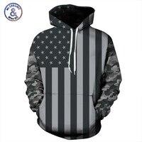 Spring Autumn Hoodies Men New Arrival American Flag Sweatshirt With Hood Hip Hop Pullover 3D Print