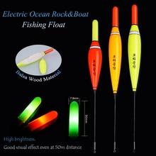 Ocean Rock & Boat Fishing Floats Balsa Wood Luminous Night Light Stick Flotador Boyas Pesca Fishing Stoppers Bobbers Accessories