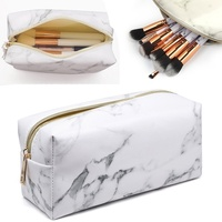 Marble lines Multi-Function Purse Box Travel Makeup Cosmetic Bag Toiletry Pencil Case Coin bag Beauty Make Up Tools Makeup Bags & Cases