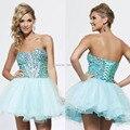 Curto do regresso a casa vestidos de luxo cristais Diamonds vestidos de formatura para as vendas de 2014 frete grátis