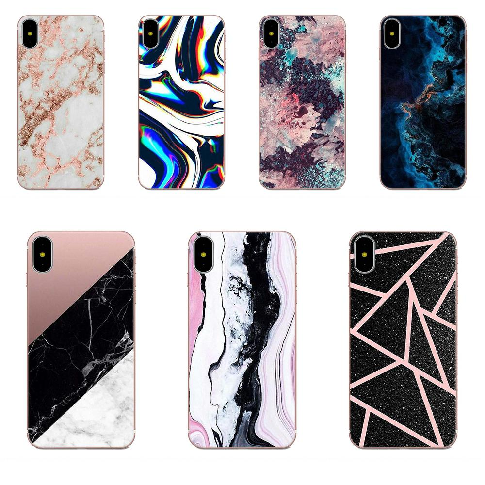 Marble Stone Pink Blue <font><b>Vertical</b></font> Phone <font><b>Case</b></font> For <font><b>Xiaomi</b></font> Redmi <font><b>Mi</b></font> Note 7 <font><b>8</b></font> 9 SE Pro Lite Go Play image