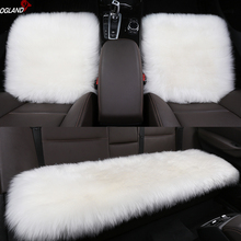 OGLAND Long Wool Car Seat Cover Set Universal for Fur Auto M
