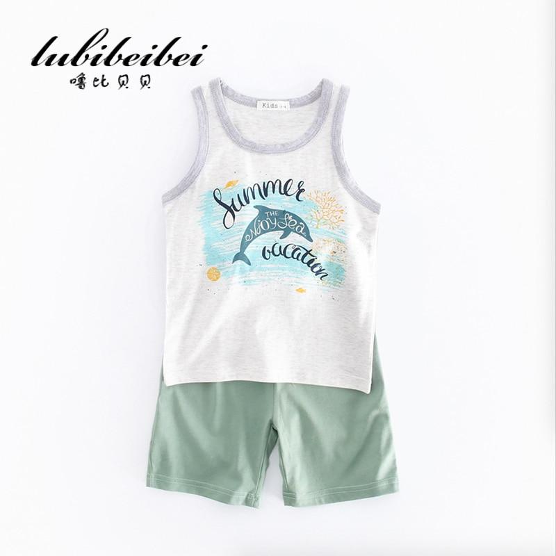 Summer Kids Clothes Sets Short Sleeve Boy T shirt Shorts Suit Clothing Set Newborn Sport Suits