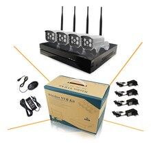 4ch 720 P 1.0mp Беспроводной Wi-Fi Ip-камера Видеонаблюдения Комплект с 8-канальный NVR Onvif P2P Сети Системы ВИДЕОНАБЛЮДЕНИЯ Безопасности Открытый Motion