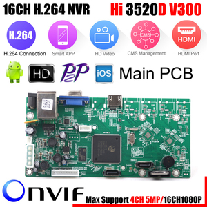 Image 1 - XMEye, vidéosurveillance P2P 16CH 1080P, carte HI3520D 4CH 5MP 16CH 1080P, Module denregistrement vidéo, 2 Ports SATA ONVIF, détection de mouvement