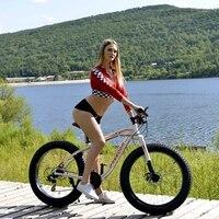Mountain Bike Aluminum Alloy 17 5 Inch 26 X 4 0 Fat Bike 24 Speed Unisex