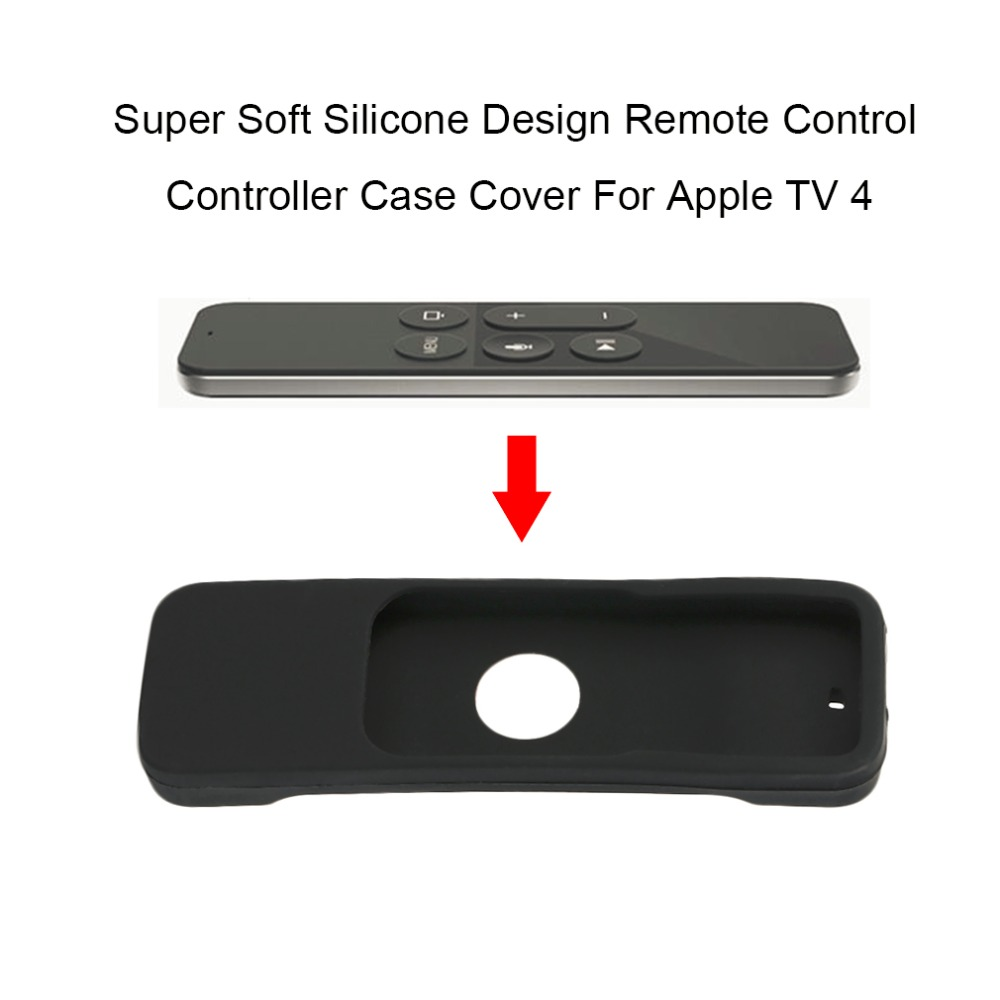 Super Soft Silicone Design Remote Control Controller Case Cover Dust-Proof Protective Case Cover For Apple TV 4