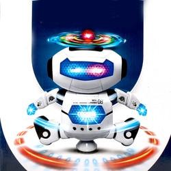 360 rotierenden Smart Raum Tanz Roboter Elektronische Gehen Spielzeug Mit Musik Licht Für Kinder Astronaut Spielzeug Weihnachten Geburtstag Geschenk