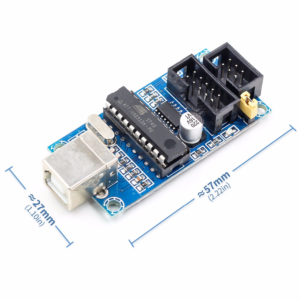 1Set USBTiny USBtinyISP AVR ISP Programmer Bootloader Meag2560 UNO R3 With 10pin Programming Cable ...
