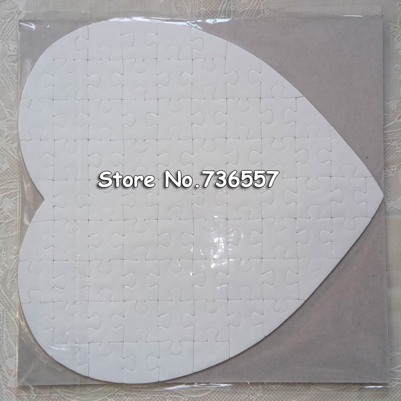 1 pc Heart Sublimation Blank Puzzle DIY Craft Jigsaw Puzzle