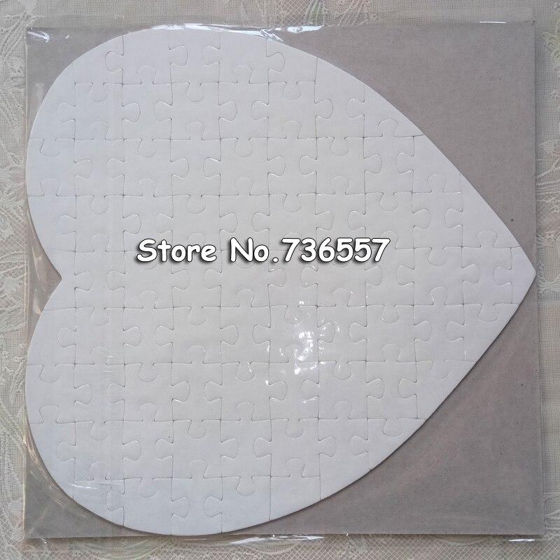 1 pc coeur Sublimation blanc Puzzle bricolage artisanat Puzzle vendre uniquement blanc Puzzles ne pas accepter personnalisation