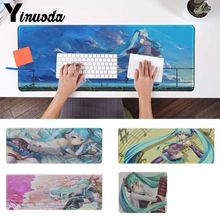 Yinuoda Your Own Mats Hatsune Miku Customized laptop Gaming mouse pad Pad To Mou