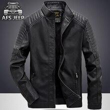 Free shipping 1pcs Mens PU Leather Jacket moto Motorcycle Slim Jacket Blazer Coats padded Hoodie Jacket