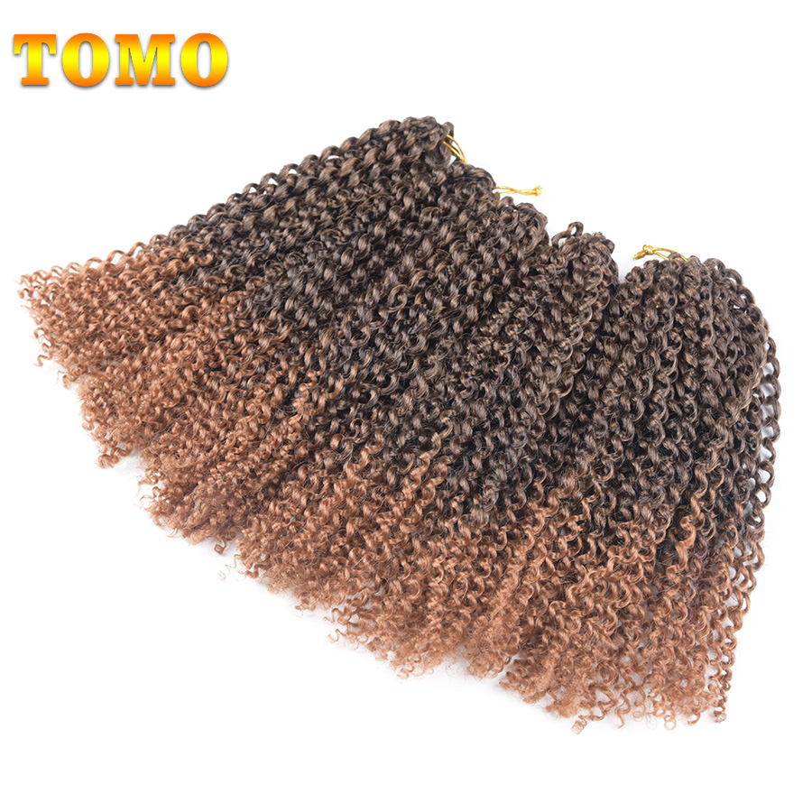 "TOMO 12"" 20strands/pack 9packs/lot Ombre Afro Kinky Twist Synthetic Braiding Hair Extensions Crochet Braids Hair"