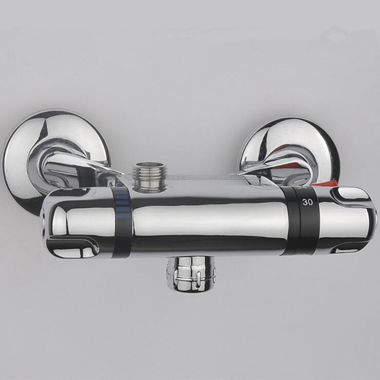 Shower Faucets Shower Copper Mixing Valve Thermostat: Bathroom Thermostatic Faucet Mixer Water Tap, Copper