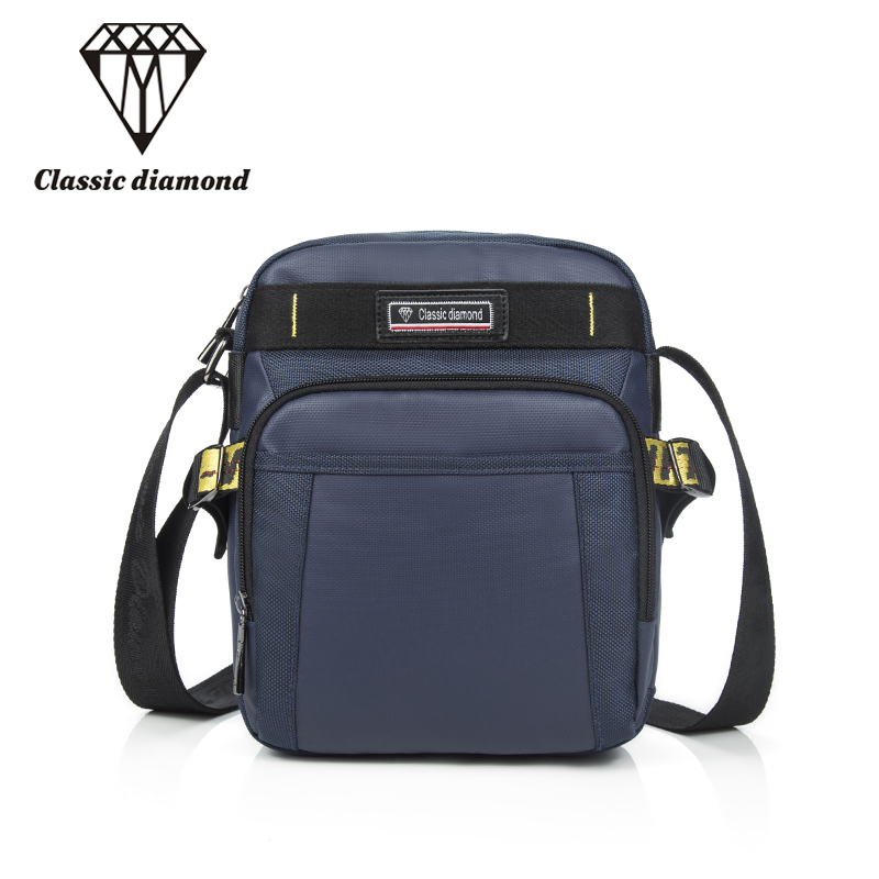 Classic Diamonds Business Girls Messenger Bags Women Waterproof Nylon Crossbody Shoulder Bag Purse Men Casual Satchel Briefcases