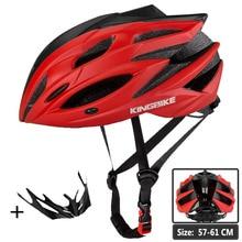 KINGBIKE Cycling Helmet Matte Red Road Bike MTB Ultralight Men Women Bicycle With Visor Insect Net Casco Ciclismo