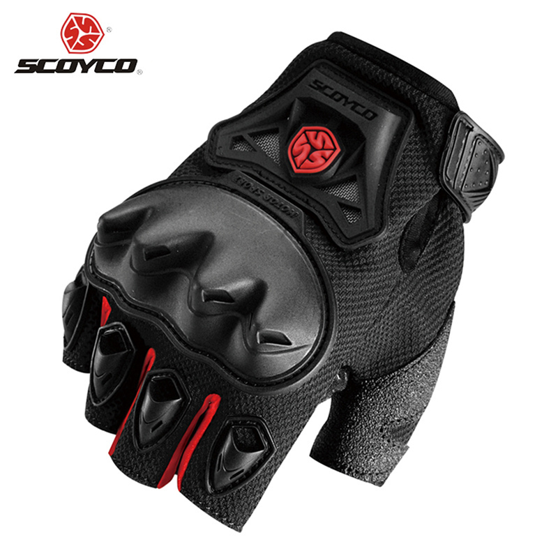 SCOYCO Motorcycle Riding Half Finger Gloves Summer Motocross Off-Road Racing Gloves Outdoor Sports Dirt Bike Enduro Guantes Luva