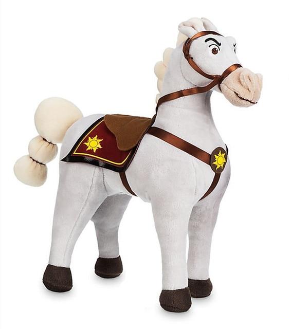 Princess Tangled Rapunzel Maximus White Horse Plush Toy Cute Stuffed