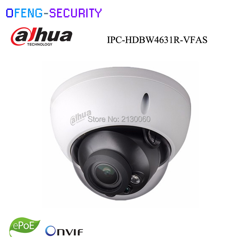 Dahua  IPC-HDBW4631R-VFAS 6Mp IP camera with POE 2.7-13.5mm Manual zoom lens with SD card slot Audio Alarm interface network