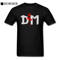 T 셔츠 Depeche 모드 DM 장미 로고 남자 여유있는 짧은 소매 인쇄 T 셔츠 여름
