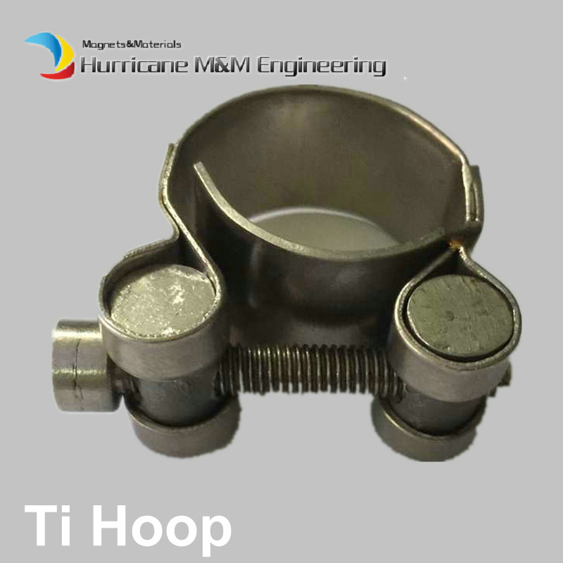 Ti Hoop Hose Clamp Heavy Duty Clamp Diameter 20-30mm Titanium Hoop original Ti color not polished Hexagon Oil field Ti fastener 9pcs automotive flexible hose clamp pliers hose set at2029