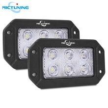 MICTUNING 6.2 18W Flush Mount LED Work Light Pods For Jeep SUV UTV Flood Light Bar Front Bumper Grill Rear Backup Offroad Lamp