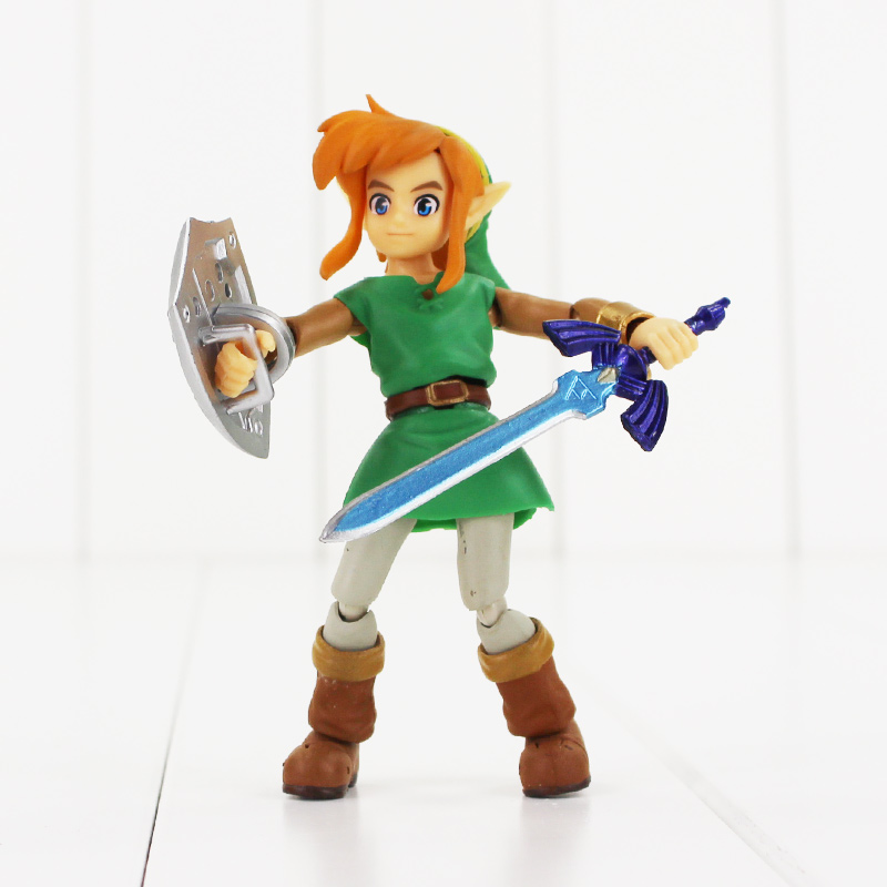 все цены на Anime The Legend of Zelda 2: A Link Between Worlds Link Figma 284 PVC Action Figure Collectible Model Kids Toys Doll 10.5cm онлайн