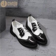 JCHQD/Новинка года; женские туфли-оксфорды; туфли на плоской подошве; женские резиновые водонепроницаемые мокасины из искусственной кожи на плоской подошве со шнуровкой; Мокасины с круглым носком