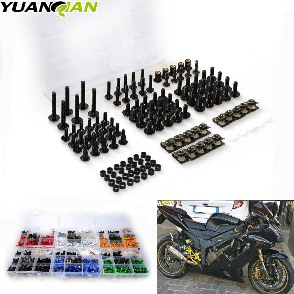 Universal CNC Motorcycle Fairing body work Bolts Fastener Clips Screws For kawasaki Z750R Z1000SX NINJA 1000 Z1000 ZX1400 ZX14R