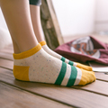 2016 New Women Summer Short Ankle Socks Female Striped Casual Low Cut Socks Ladies Brand Socks Women Socks Cotton High Quality