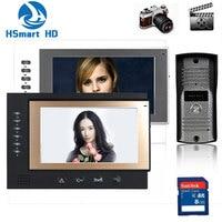New 7 Inch Monitor Color Video Door Phone Bell Intercom System Night Vision Mini Waterproof Cam