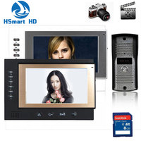 New 7 Inch Monitor Color Video Door Phone Bell Intercom System Night Vision Mini Waterproof Cam