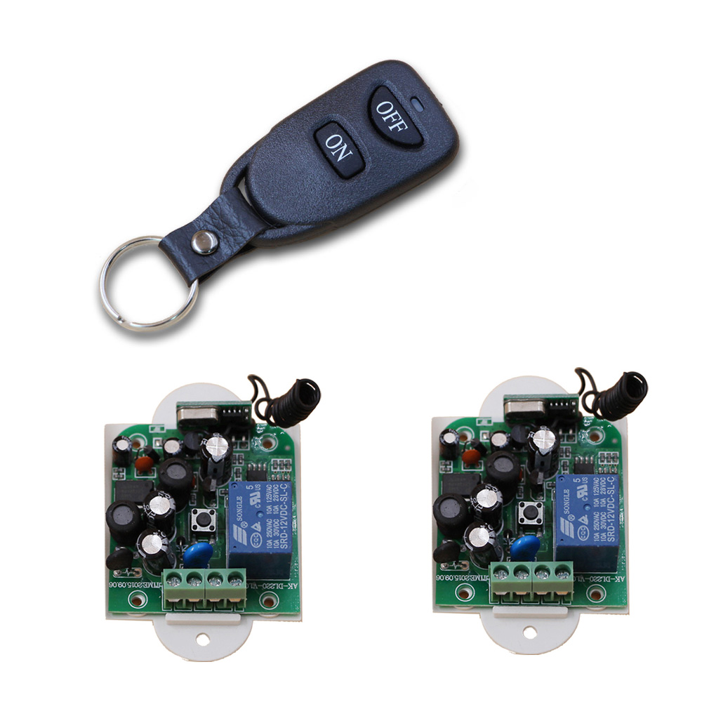 AC85V 110V 120V 220V 250V 1CH Remote Control Light Switch Relay Output Radio Receiver Module and Belt Buckle Transmitter 315/433 new dc12v 24v 36v 48v 10a 2ch remote control light switch relay output radio receiver module and 4pcs belt buckle transmitter
