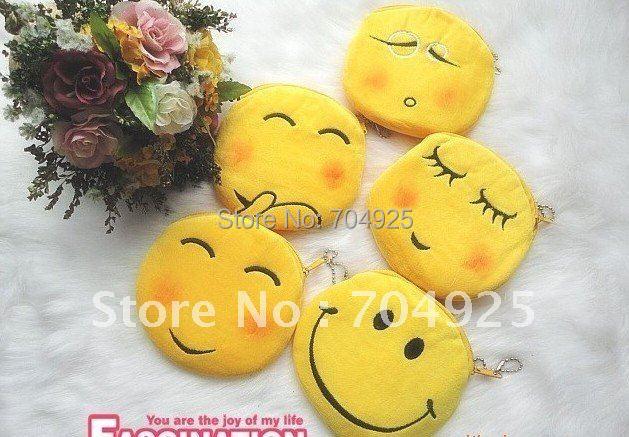 36PCS Kawaii Facial Feature Plush Coin Purse & Wallet BAG Pouch Case Holder, Pendant BAG Pouch Mini Beauty Case Handbag BAG