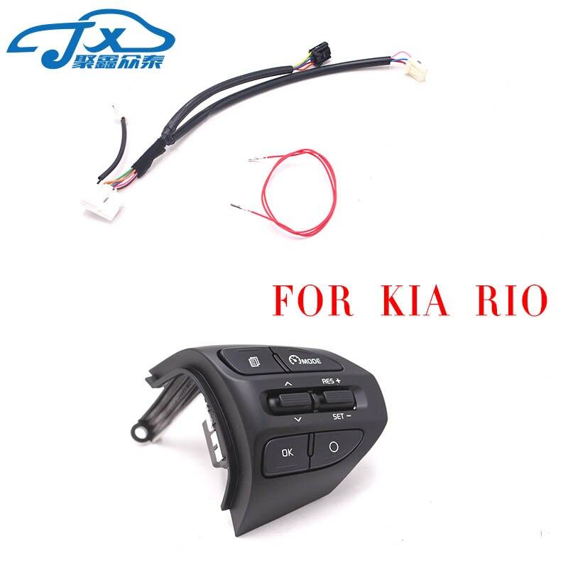 Jxzt Lenkrad Taste Für KIA K2 RIO 2017 2018 RIO X LINIE Tasten Bluetooth Telefon Tempomat Volumen