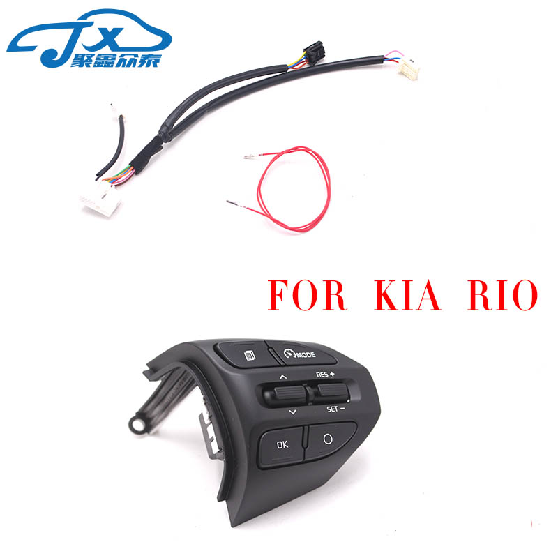 jxzt Steering Wheel Button For KIA K2 RIO 2017 2018 RIO X LINE Buttons Bluetooth Phone