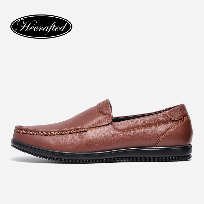 Full Grain Leather Men Leather Shoes 38~47 Hecrafted Top Quality Brand Handmade Men Flats #9005