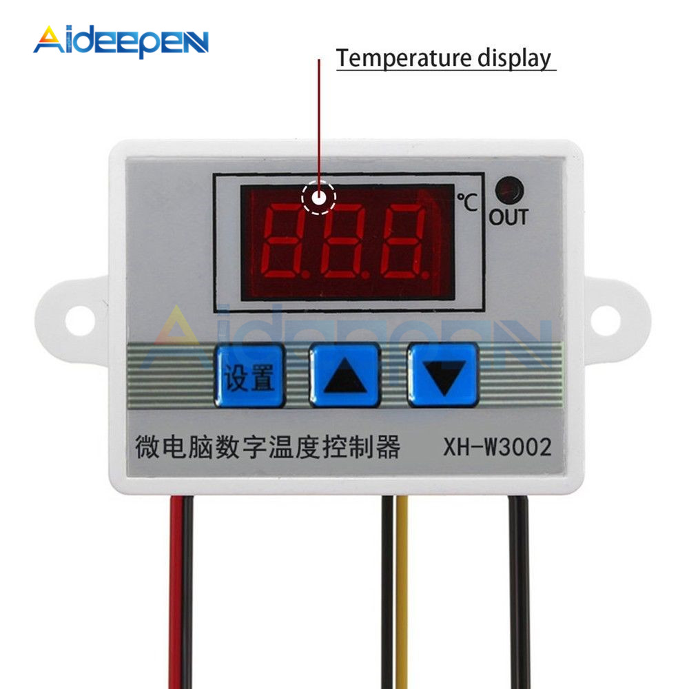 LED Digital Temperature Controller 10A Thermostat Thermostatic Control Switch Probe Sensor Switch W3002 AC 110-220V