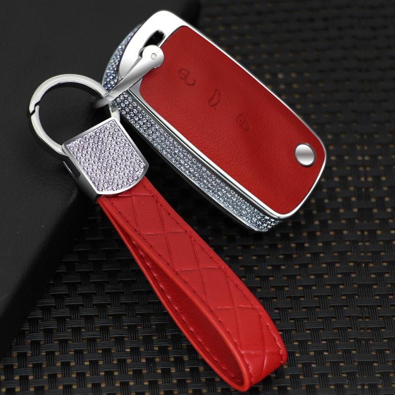2019 New Luxury Diamond Key Shell Holder Remote Car Key Case Cover For Volkswagen VW Polo Passat Tiguan Bora Gift Accessories