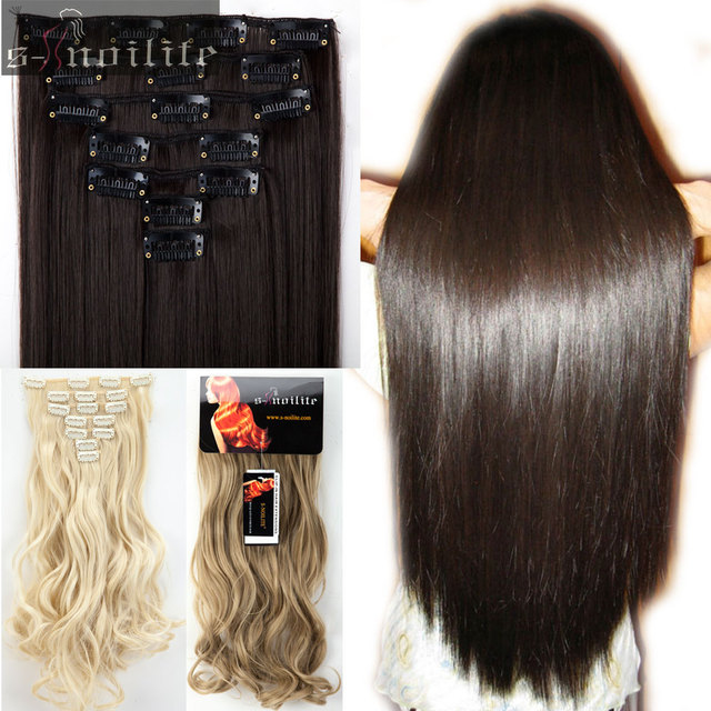 S noilite 7pcsset 100 real natural hair full head clip in ins s noilite 7pcsset 100 real natural hair full head clip in ins pmusecretfo Image collections