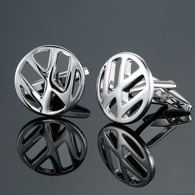 DY New high-end luxury car brand silver Volkswagen logo Cufflinks fashion Mens French shirt Cufflink free shipping