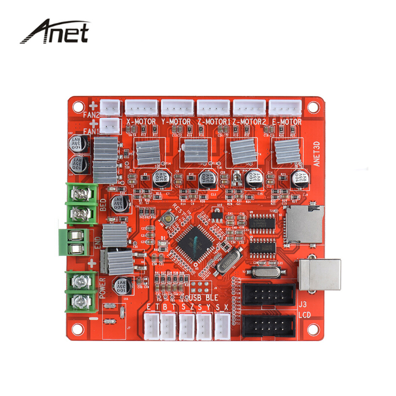 Anet Upgrade Main Board Mother Board Control Board Mainboard for Anet A8 A6 RepRap Prusa i3 3D Printer DIY Self Assembly Kit dc24v cooling extruder 5015 air blower 40 10fan for anet a6 a8 circuit board heat reprap mendel prusa i3 3d printer parts