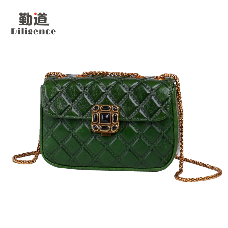 Vintage Chains Genuine Leather Shoulder Bags For Women 2017Fashion Famous Luxury Brands Designer Style Crossbody Messenger Flaps chains genuine leather shoulder bags vintage for women famous luxury brands designer style crossbody messenger bag